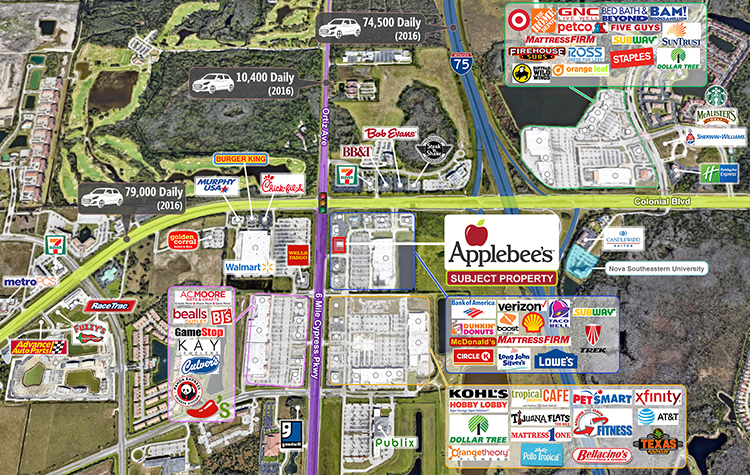 Applebee's in Fort Myers, FL | Absolute NNN Lease with ... on nearest golden corral locations, applebee's store locations, number of applebee's locations, chili's locations, huddle house locations,