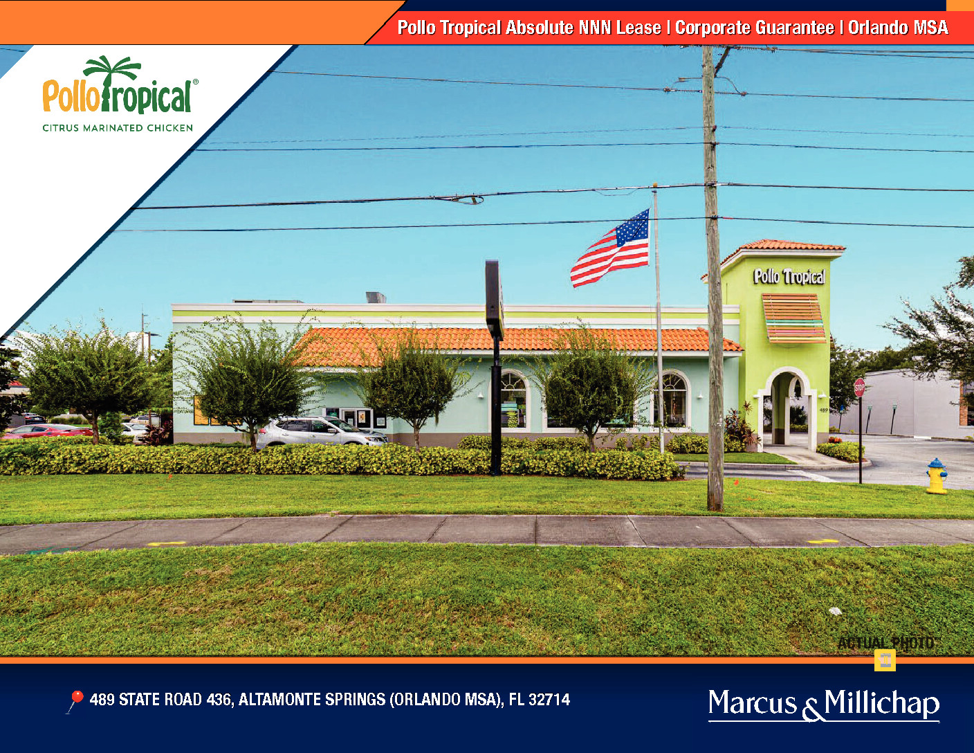 Just Listed! Pollo Tropical NNN Lease in Altamonte Springs, Florida