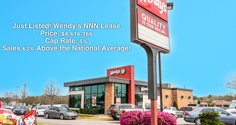 Just Listed! Wendy's NNN Lease in Rocky Mount, North Carolina